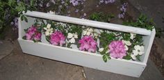 Old tool box planter