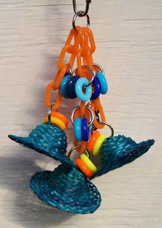 Bamboo Hat Bling Small Bird Toy Shreddable by WhiteWingBirdToys, $8.75