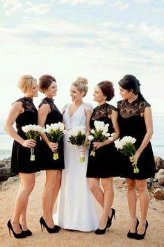 Black Bridesmaid dre