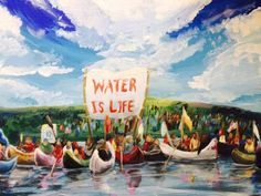 A beautiful painting of Standing Rock by Gr. 12 Student Katie Lynn  Biladeau. Its. Native American SpiritualityMy PeopleRaise ... edd61817b661