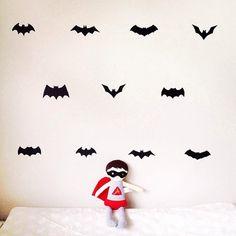 Bat History Wall Decals u2013 Manor | Simply Smashing Home Decor & Batman wall decal batman decal batman wall art batman mask ...