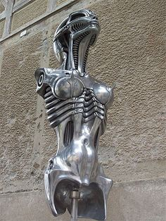by H.R. Giger Statues, Hr Giger Art, Evil Art, Alien Art, Xenomorph, Science Fiction Art, Sci Fi Art, Art Object, Conceptual Art