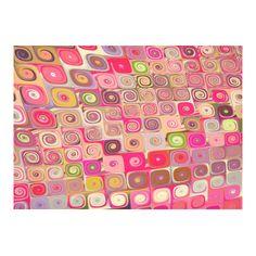 Cascade 7 Brago Mitchell Mosaic Fractal Art Cotton Linen Tablecloth 60
