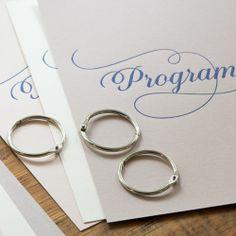 Letterpressed wedding programme, by Pretty Paper, Sweden.