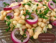 Salata de fasole alba Romanian Food, Romanian Recipes, Yummy Food, Yummy Yummy, Pasta Salad, Potato Salad, Dishes, Eat, Pastries