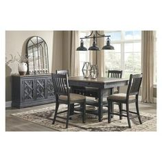 Tyler Creek 7 Piece Dining Set (Rectangular Table with 6 Side Chairs) Dining Room Server, Dining Room Chairs, Side Chairs, Kitchen Dining, Rattan Chairs, Patio Dining, Room Kitchen, Dining Tables, Kitchen Sink