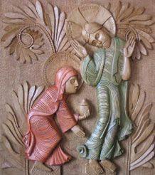 La rencontre de Marie Madeleine et du Christ après la Résurrection - Philippe Peneaud