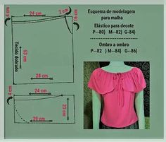 szabásminták Blouse Patterns, Clothing Patterns, Blouse Designs, Sewing Patterns, Free Beading Tutorials, Sewing Tutorials, Make Your Own Clothes, Diy Clothes, Sewing Machine Basics