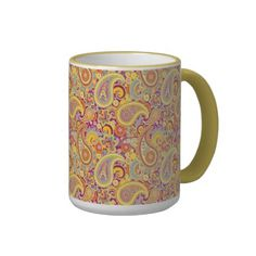 Playful Paisley Coffee Mugs