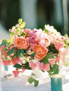 Shannon Leahy Events - Carnival Inspired Wedding - San Rafael - Centerpiece - Roses