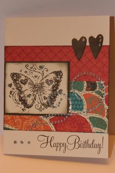 Cute butterfly card with CTMH products