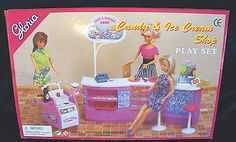 GLORIA DOLLHOUSE FURNITURE Candy& Ice-Cream PLAYSET FOR BARBIE