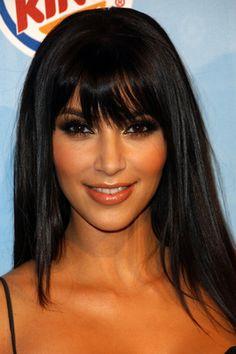 Kim Kardashian Bangs Hairstyle - Kim Kardashian Hairstyles Over the Years