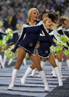 NFL: Divisional Round-Carolina Panthers at Seattle Seahawks Hottest Nfl Cheerleaders, Football Cheerleaders, Nfl Football, American Football, Cheerleading, Famous Cheerleaders, Carolina Panthers, Pantyhose Soles, Professional Cheerleaders