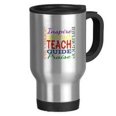 Teacher Word Picture Teachers School Kids 15 Oz Stainless Steel Travel Mug