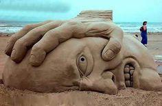 Funny - Headache Beach Sculpture