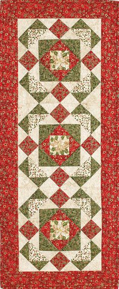 Great for tone-on-tone effects. Xmas Table Runners, Table Runner And Placemats, Table Runner Pattern, Quilted Table Runners, Small Quilts, Mini Quilts, Plus Forte Table Matelassés, Christmas Patchwork, Quilted Table Toppers