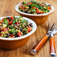 Southwestern Quinoa Salad with Black Beans, Red Bell Pepper, and Cilantro Recipe