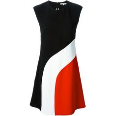 Carven colour block dress (3 380 ZAR) ❤ liked on Polyvore