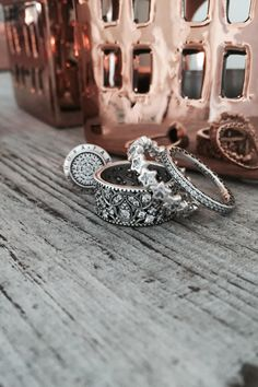Wonderful PANDORA rings in sterling silver. Mix and match to fit your personal style. #PANDORAring