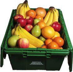 Organic fruit delivered to your office!   http://www.bostonorganics.com/office-deliveries.php