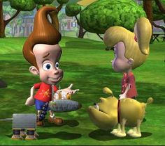 Jimmy Neutron had gone with his dog, and the little robot dog, in the park for a walk. Here they will meet with a new old friend of him, witch she got out for a walk with her dog two. Now the robot dog must learn Jimmy's friends dog some new things that he knows two. So join the flash game, and have some fun with the dogs, you can also check some other Disney games.
