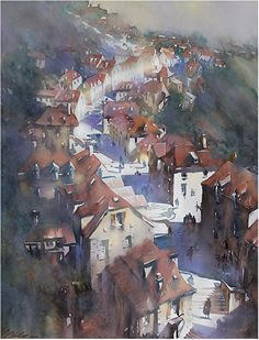Thomas W. Schaller Watercolor ~ 30 inches x 22 inches