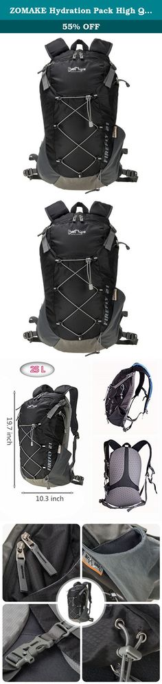ZOMAKE Hydration Pack High Quality Professional 25L Hydration Backpack With Waterproof Cover Great for Hiking - Biking - Running - Excursions - Lifetime Guarantee(Black). Please pay attention. All backpack are no bladder included. Product Feature: - Lightweight design, much more comfortable. - With unique helmet net for outdoor cycling. - High utilization of the main storage space,can be easily put some daily necessities, clothes and sporting goods besides the water bladder. - Works as a...