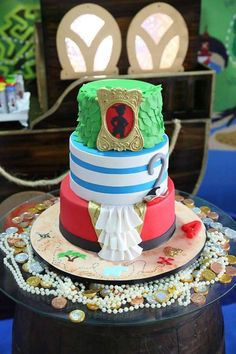 Awesome cake at a Peter Pan birthday party! See more party ideas at CatchMyParty.com!