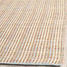 Logan rug in natural. Jute & cotton. 8 X 10. $278.95.