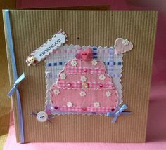 Greeting Card, 'Pretty Patch Wedding' Handmade Card  £1.95