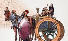 O Rabsaqué e seus homens do lado de fora da muralha de Jerusalém