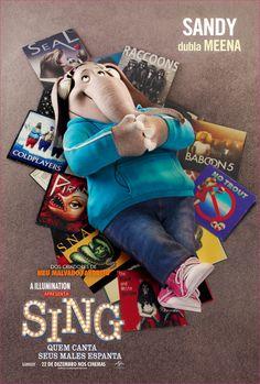 Sandy dubla Meena em Sing - Quem Canta Seus Males Espanta, 22 de dezembro nos cinemas!