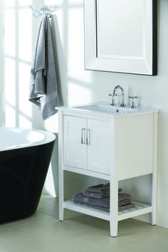 Allure Bathrooms | CLASSIC 900 WHITE MARBLE TOP VANITY | Interior Ideas |  Pinterest | Marble Top, White Marble And Marbles