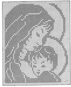 Jesus with heart x-stitch Xmas Cross Stitch, Cross Stitch Borders, Cross Stitch Rose, Cross Stitch Designs, Cross Stitch Embroidery, Crochet Blocks, Crochet Doily Patterns, Crochet Doilies, Religious Cross Stitch Patterns