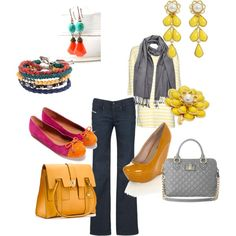 Gray and yellow two ways- casual & date night