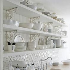 LOVE the shelf supports and that BACKSPLASH!!   The Cottage Market: 25 Cottage Touches