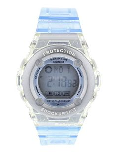 Casio Womens BG13022ER BabyG Blue Bezel Shock Resistant Watch -- Details can be found by clicking on the image.