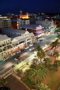 Front Street, Hamilton Bermuda (I think I see our moped parking spot!)