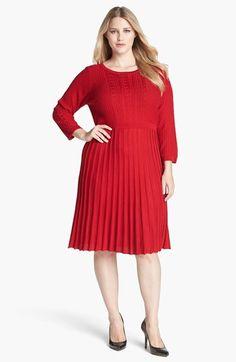 #Calvin Klein #Dresses #Calvin #Klein #Flare #Sweater #Dress #(Plus #Size) Calvin Klein Fit & Flare Sweater Dress (Plus Size) Red 1X http://www.seapai.com/product.aspx?PID=5381222