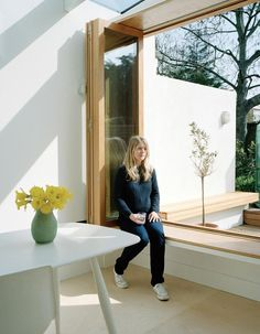 architect designed window seat with window - Google Search