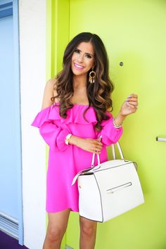 Nordstrom Dresses - The Sweater Dress You'll Want for Date Night This Fall Hot Pink Dresses, Spring Dresses, Spring Outfits, Dresses 2016, Cute Fashion, Fashion Looks, Fashion Styles, California Outfits, Classy Casual