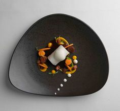 Icelandic cod, sweet potato, fig, chorizo and coffee   FOUR Magazine