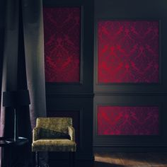 Acanthe Casamance Wallpaper (source Casamance) Fabric Wallpaper Australia / The Ivory Tower