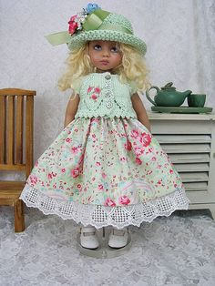 """""""Light Green Rose Dress Outfit"""" from ullladesigns on ebay sold 7/4/14 for $239.01."""