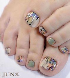 Pin by Kim Ewers Pariso on Hair, Makeup, & Nails in 2020 Pedicure Designs, Pedicure Nail Art, Toe Nail Designs, Pretty Toe Nails, Cute Toe Nails, Love Nails, Toe Nail Color, Toe Nail Art, Feet Nail Design