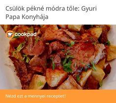 Csülök pékné módra Baked Potato, Potatoes, Beef, Baking, Ethnic Recipes, Food, Meat, Potato, Bakken