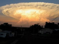 """""""Mushroom"""" clouds. This somewhat fanciful term refers to the general form taken by some convective clouds with strong vertical elevation, especially at the top of cumulonimbus clouds, sometimes shaped like an anvil. The largest ones can reach the stratosphere."""