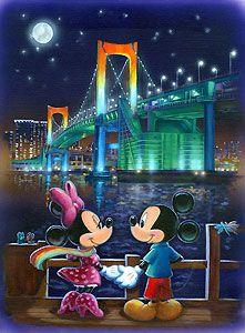 Mickey Mouse - Last Night - Minnie - Annick Biaudet - World-Wide-Art.com