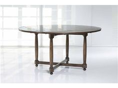 Shop for Kravet Turned 4 Leaf Dining Table, WD4/42SR IP CR, and other Dining Room Dining Tables at Kravet in New York, NY. Shown extended, in Coffee, Heavy Distress, Inlaid Plank Top, Cross Stretcher.
